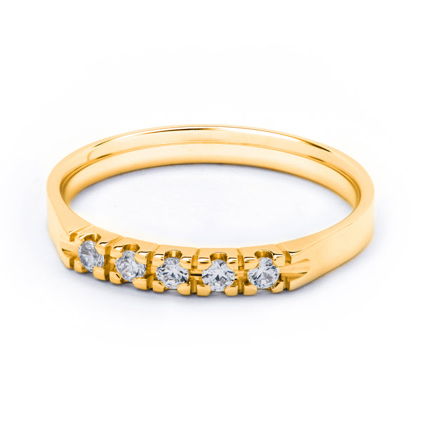 5 Stone Eternity Diamond Ring 0.15ct