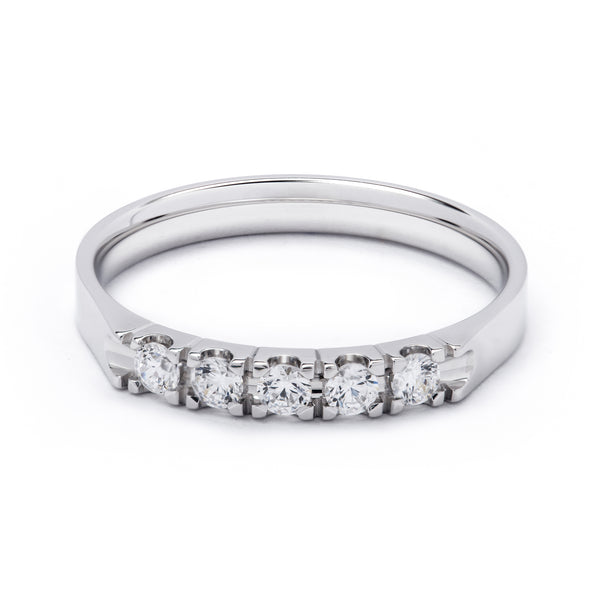 5 Stone Eternity Diamond Ring 0.25ct