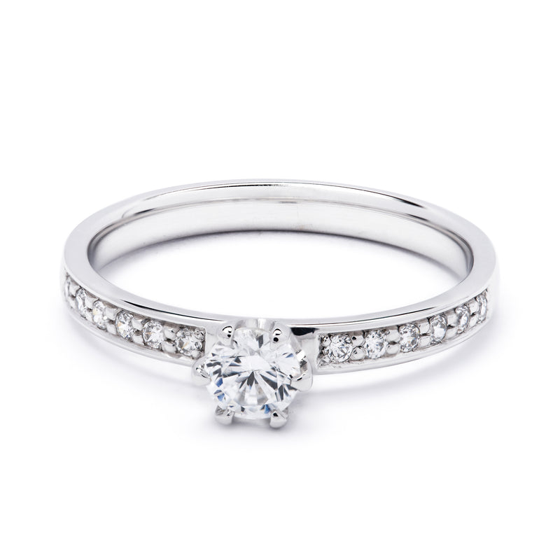 Pavé Diamond Ring 0.42ct