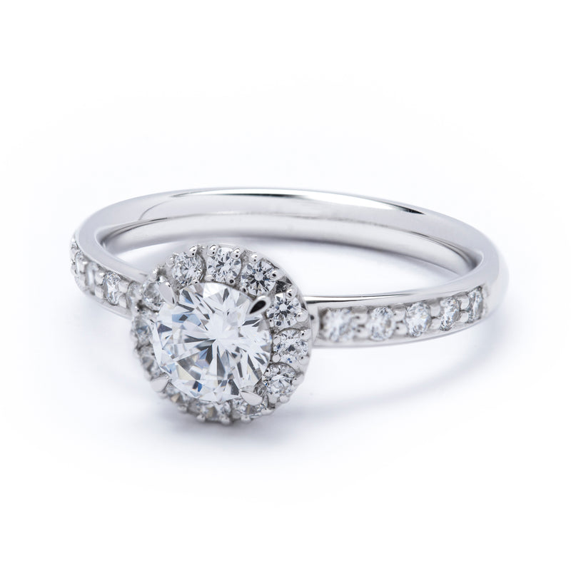 Halo Diamond Ring 1.16ct