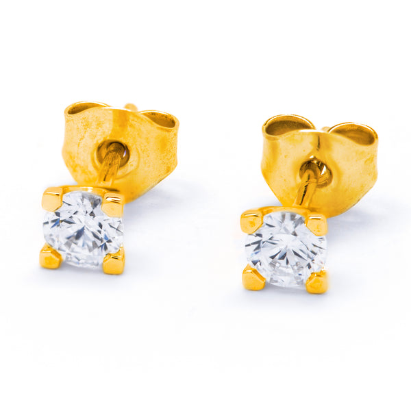 Diamond Earrings 0.40ct 4-claw