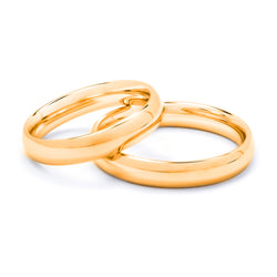 Round Gold Wedding Ring 4 mm