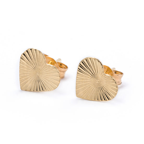 Gold Heart Earrings 18k