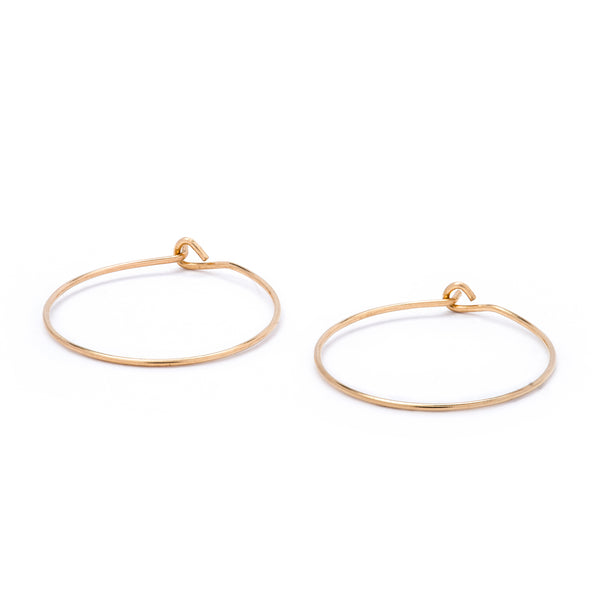 Gold Hoop Earring 18k 12mm