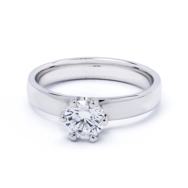 Solitaire Diamond Ring 0.75ct