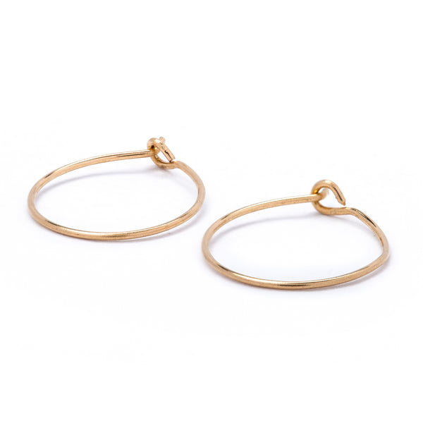 Gold Hoop Earring 18k 15mm