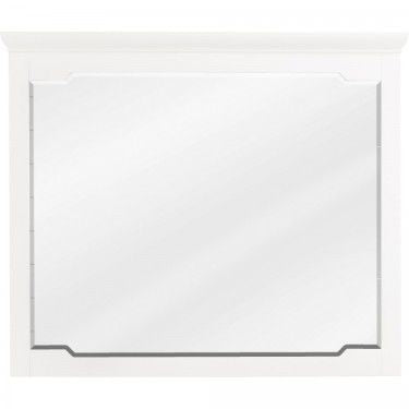Chatham Shaker Mirror | 40 x 34 | White