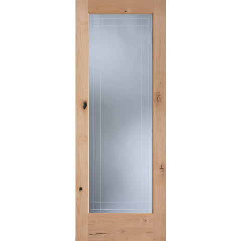 9 Lite V-grooved glass (1509) | MASONITE | Interior Wooden Door | French Collection