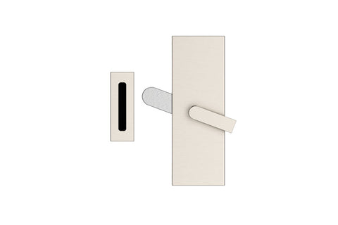 Modern Rectangular Barn Door Privacy Lock with Strike  EMTEK  Barn Door Hardware