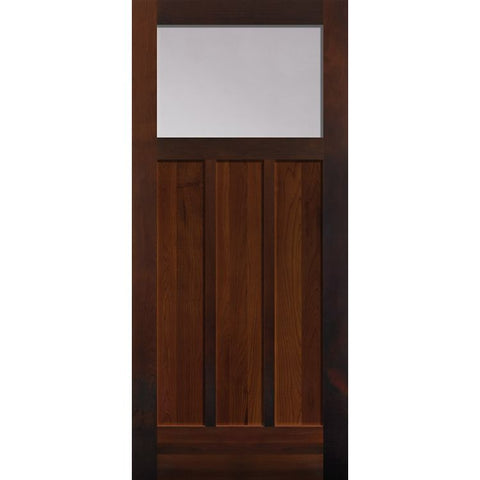 1 Lite Craftsman (1/4) Over 3 Panel (2613)  MASONITE  Exterior Wooden Door