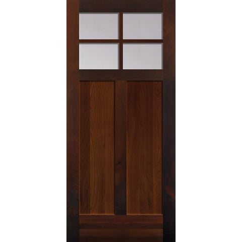 4 Lite Craftsman (1/4) Over 2 Panel (2642)  MASONITE  Exterior Wooden Door