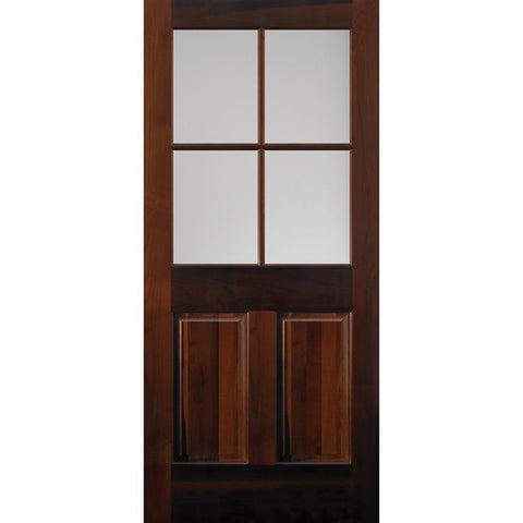 4 Lite (1/2) Over 2 Panel (444)  MASONITE  Exterior Wooden Door