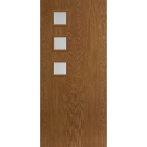 Belleville 3 Left Side Square Lites Modern Exterior Doors  MASONITE  Exterior Fiberglass Doors