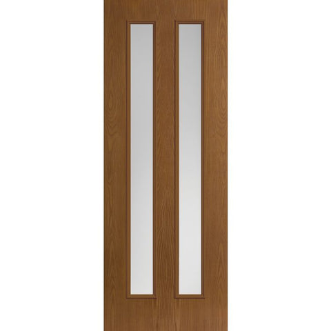 Belleville 2 Center Vertical Lites Modern Exterior Doors  MASONITE  Exterior Fiberglass Doors