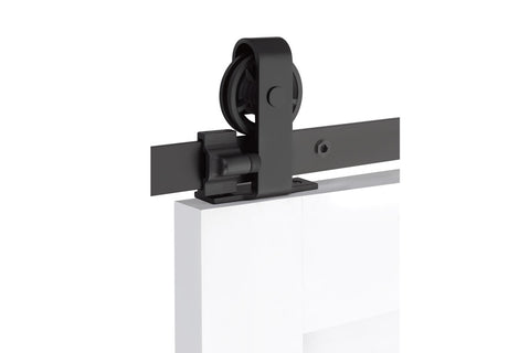 Classic Top Mount - Steel  EMTEK  Barn Door Hardware