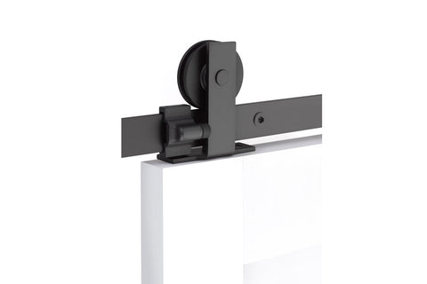 Modern Rectangular Top Mount - Steel  EMTEK  Barn Door Hardware