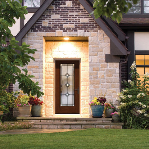 Fiber Classic® Mahogany Collection™  THERMA-TRU  Fiberglass Door (No Stile Lines)