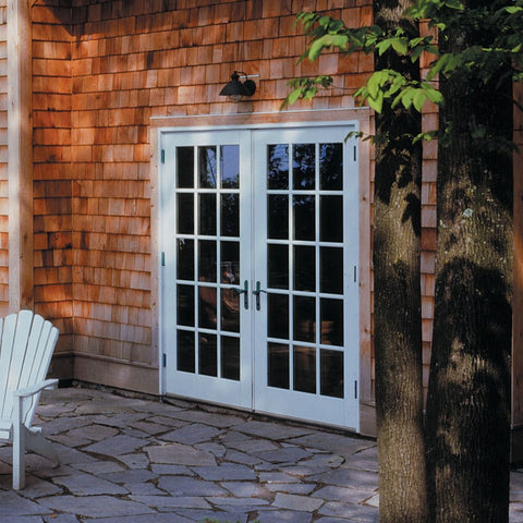 Smooth-Star®  THERMA-TRU  Flush Glazed Fiberglass Double Door