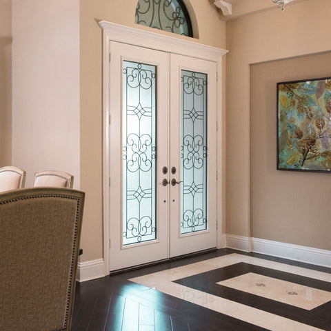 Smooth-Star®  THERMA-TRU  Fiberglass Door + White Aluminum Astragal