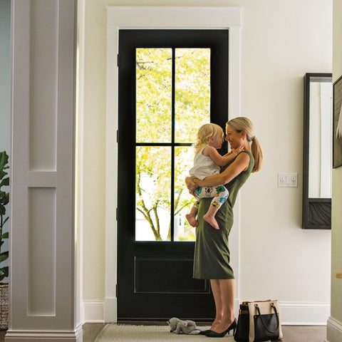 Smooth-Star®  THERMA-TRU   Flush Glazed Fiberglass Door