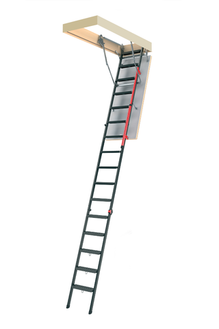 "LMP | Metal Insulated Attic Ladder | 25"" x 56.5"" 
