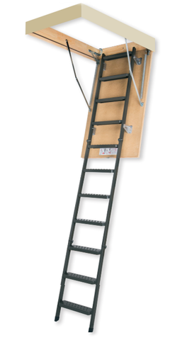 "LMS | Metal Insulated Attic Ladder | 25"" x 47"" 