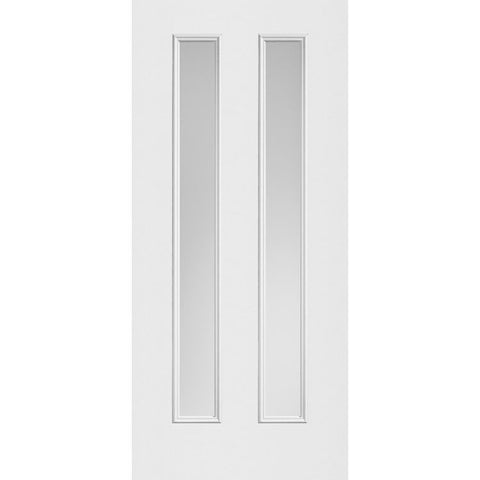 "Sta-Tru 2 (7"") Center Vertical Lites Modern Doors  MASONITE  Exterior Steel Door"