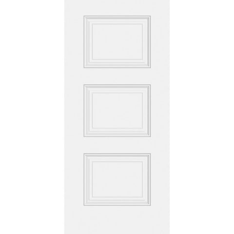 Sta-Tru 3 Panel Equal Doors  MASONITE  Exterior Steel Door