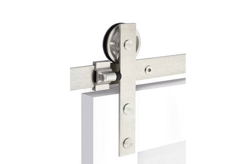Modern Rectangular Face Mount - Stainless Steel  EMTEK  Barn Door Hardware