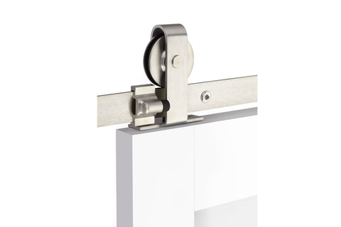Classic Top Mount - Stainless Steel  EMTEK  Barn Door Hardware