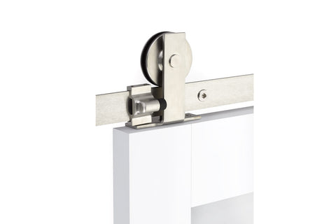 Modern Rectangular Top Mount - Stainless Steel  EMTEK  Barn Door Hardware