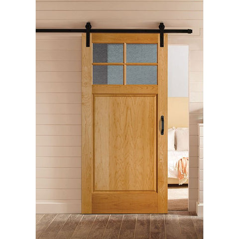 4 Lite Craftsman (1/4) Over 1 Panel (2641)  MASONITE  Interior Wooden Door  Artisan Collection