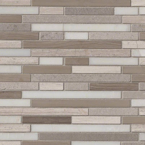 Arctic Storm Interlocking  Pattern  Backsplash Tile  BOX
