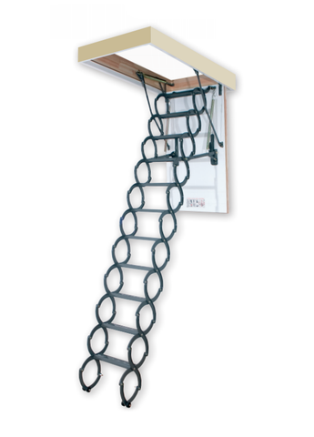 "LST | Insulated Metal Scissor Attic Ladder | 27.5"" x 31.5"" 