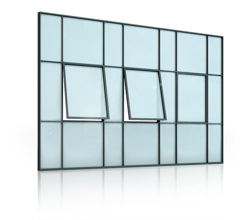 JANSEN ECONOMY 50  Steel Windows Without a Thermal Break