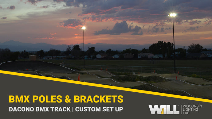 Dacono BMX | Round Tapered Steel Light Poles & Custom Fabricated Brackets