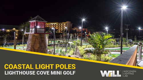 Lighthouse Cove Mini Golf | Fiberglass Light Poles for Coastal Lighting Applications