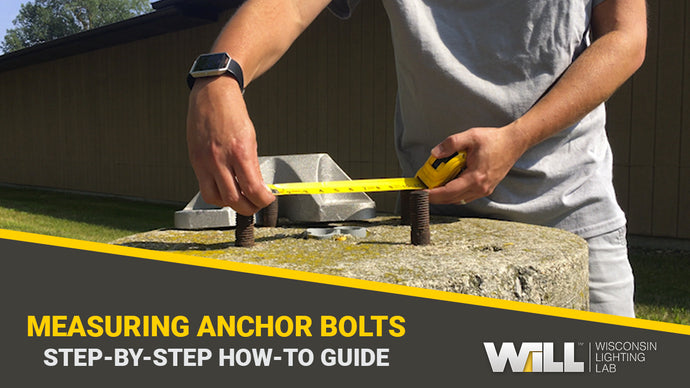 How To: Measure Light Pole Anchor Bolt Square & Circle For Existing Bases