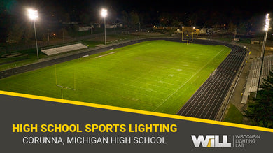 Replacement LED Lighting for High School Football Field | Corunna, MI