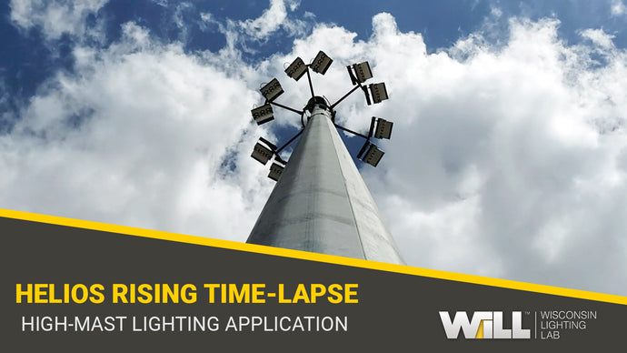 Time-lapse Footage of High-Output High Mast LED Lighting Install