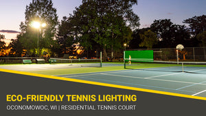 Neighbor Friendly City Park Tennis Court LED Lighting