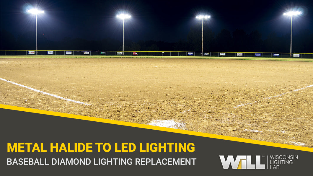 Red Bud Baseball Diamond Light Project | Metal Halide to LED Lighting Replacement