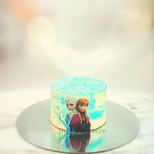 Load image into Gallery viewer, Frozen Elsa and Ana Cake