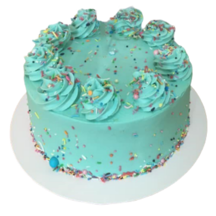 Vanilla Cake with Swirls and sprinkles