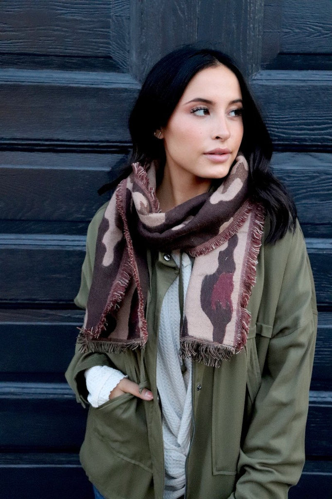 Scarf - Brown Leopard
