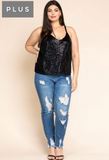 Sassy in Sequin Cami - Black