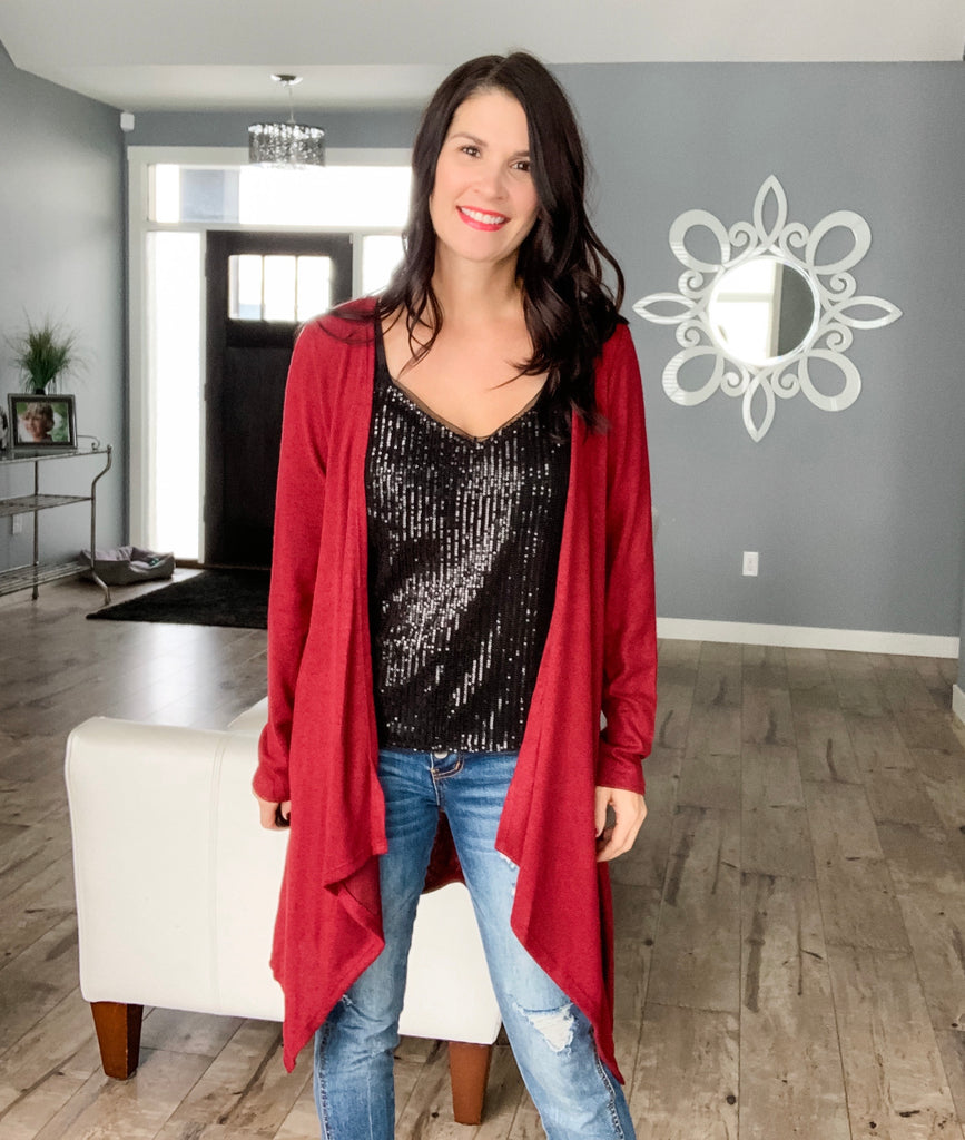 Beauty in Burgundy Cardi