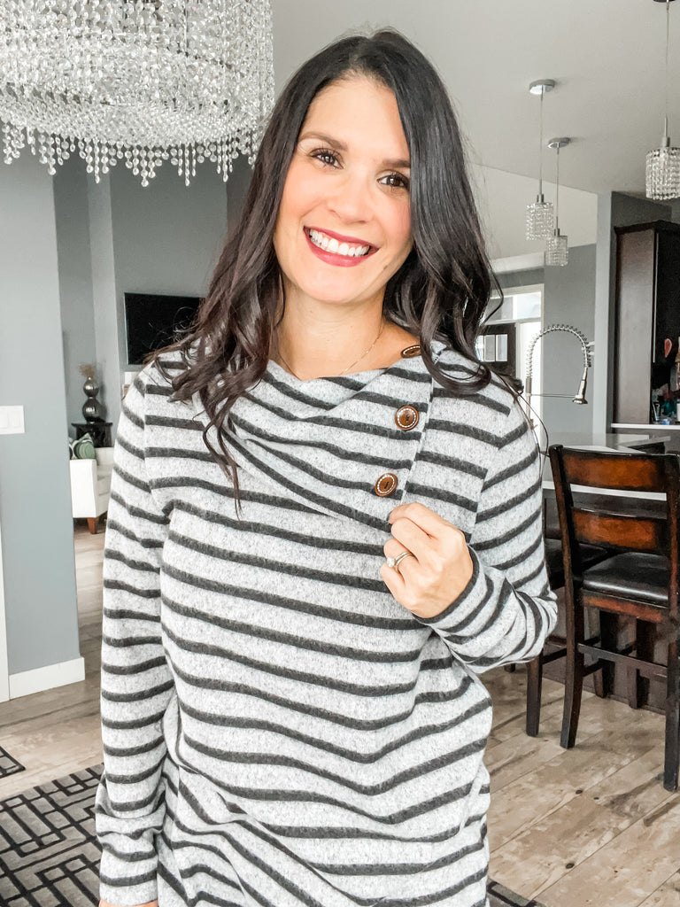 Stripes and Cowl Top