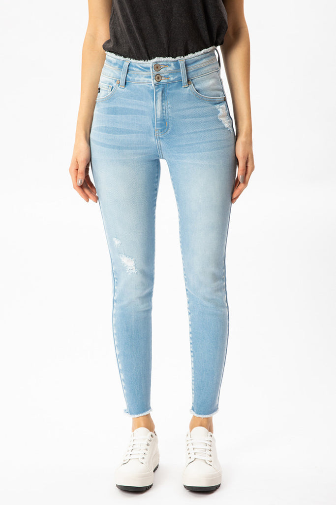 Kancan High Rise Double Button Skinnies