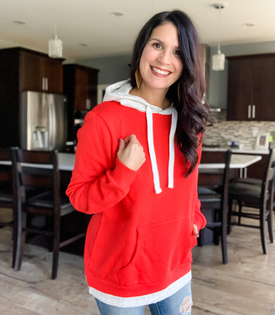 Layered Red Riding Hoodie